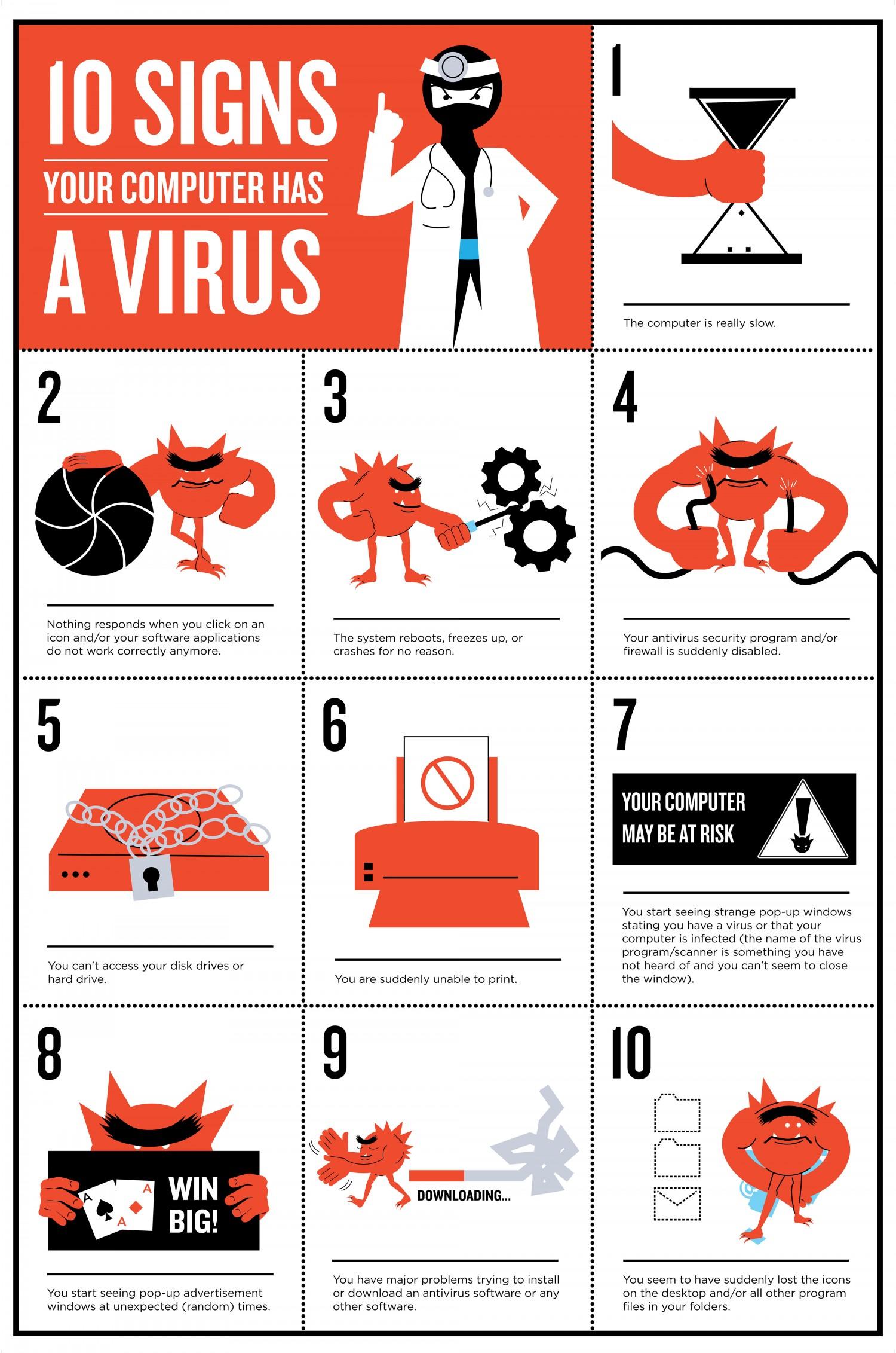 10 sinais que o seu computador está infetado