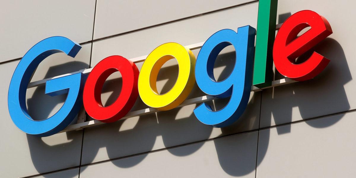 Logo is pictured at Google's European Engineering Center in Zurich